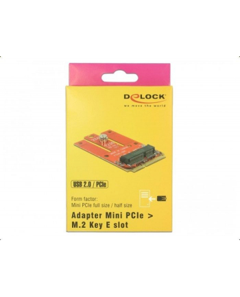 DeLOCK Adapter Mini PCIe>M.2 E Slot