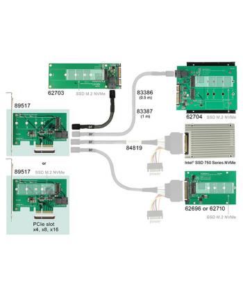DeLOCK x4>1x SFF-8643 + 1x Key M