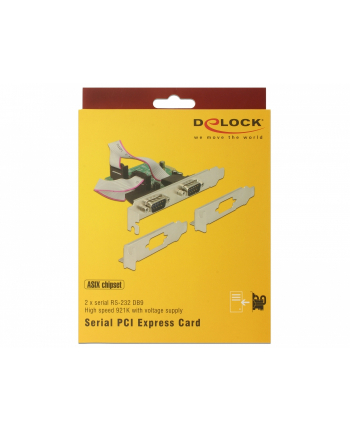 DeLOCK PCI Express > 2 x Serial RS-232 High Speed 921K