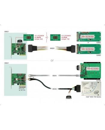 DeLOCK PCIe x4 NVMe-1xSFF-8654 4i 1 x intern SFF-8639 LP