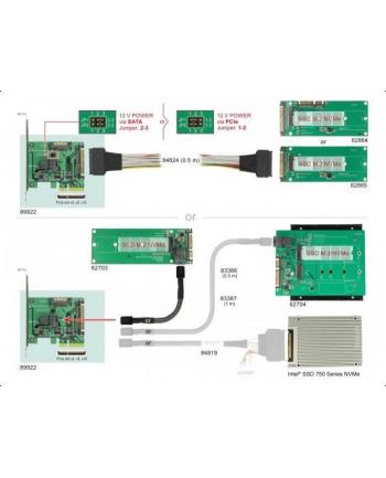 DeLOCK PCIe x4 NVMe-1xSFF-8643 4i 1 x intern SFF-8639 LP
