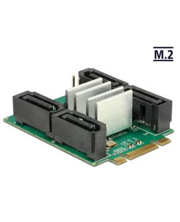 DeLOCK Adapter M.2. B+M ST>Hybrid 4x SATA - RAID