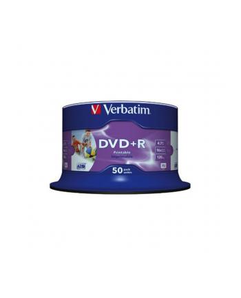 Płytki DVD+R VERBATIM 43512 16X DO NADRUKU FOTO CAKE / 50 sztuk
