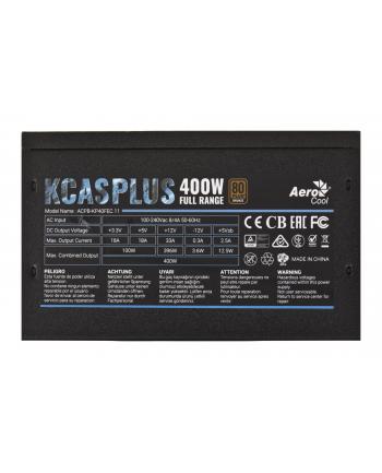 AEROCOOL  KCAS PLUS 400W DC-to-DC FULL RANGE 80 PLUS BRONZE zasilacz ATX
