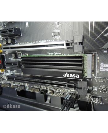 Akasa Aluminiowe chłodzenie pasywne dla dysków M.2 SSD