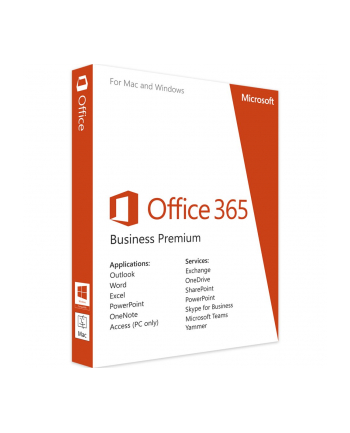 Microsoft Office 365 Bus Prem English EuroZone Subscr 1YR Medialess P2