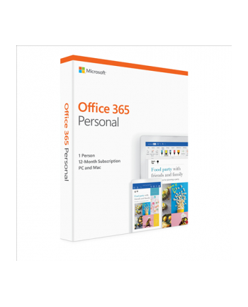 Microsoft Office 365 Personal English EuroZone Subscr 1YR Medialess P4