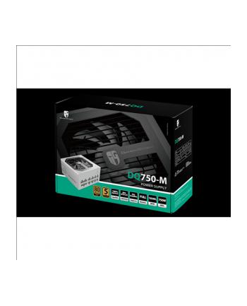 Deepcool zasilacz ATX DQ750-M 750W  certyfikat GOLD  100% modularny  kolor biał