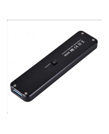Silverstone SST-MS09B M.2 SATA external SSD Enclosure, USB 3.1 Gen 2, black