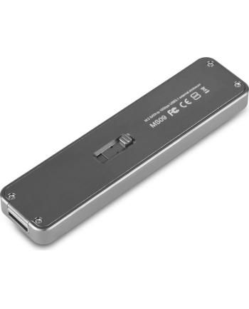 Silverstone SST-MS09C M.2 SATA external SSD Enclosure, USB 3.1 Gen 2, charcoal