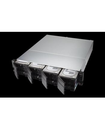 QNAP 12-Bay TurboNAS, AMD Ryzen 6C 3,4GHz, 8GB, 2xGbE LAN, 2x10Gb SFP+, RPS