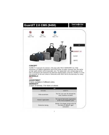 Teczka na kołach SAMSONITE CM509008 Guardit 2.0 17,3''komp,tblt,dok, czarna