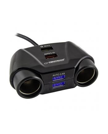 ESPERANZA EZ132 ASTI -Samochodowy rozdzielacz gniazda zapalniczki z 4portami USB