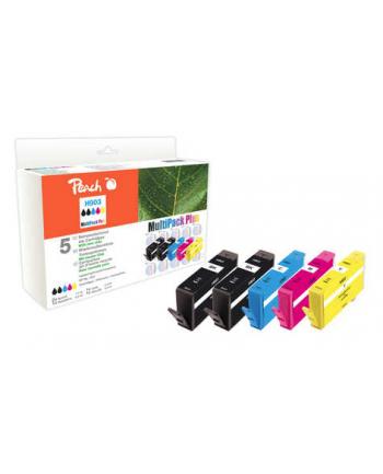 Zestaw tuszy PEACH PI300-761 | CMYBK | HP No. 903 | + 1 tusz black GRATIS