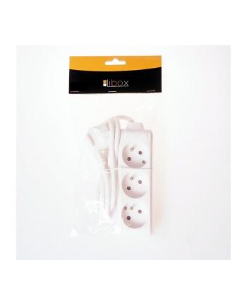 LIBOX Listwa przedłużacz, 3 gniazda, kabel 1,5 m, uziemienie LB0080-1,5 biały