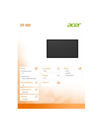 acer Monitor DT493 49' LFD
