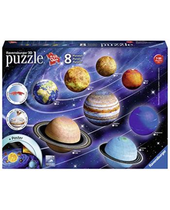 Puzzle 3D Układ planet 2x27el/2x54el/2x72el/2x108el 116683 RAVENSBURGER