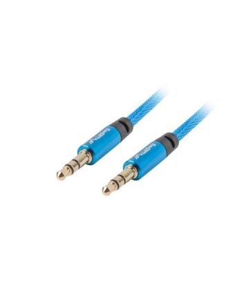 lanberg Kabel Premium Minijack - Minijack M/M 3.5mm 3m niebieski