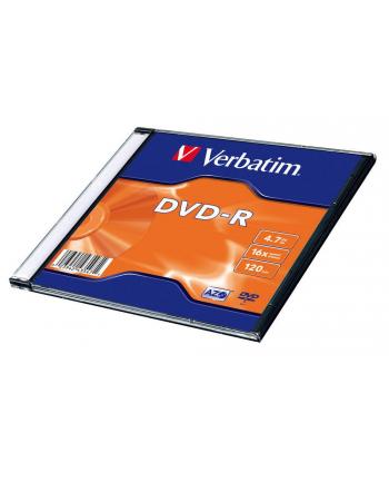 verbatim Płyta DVD-R 16x 4.7GB 20P Slim Matt SilverID 43547