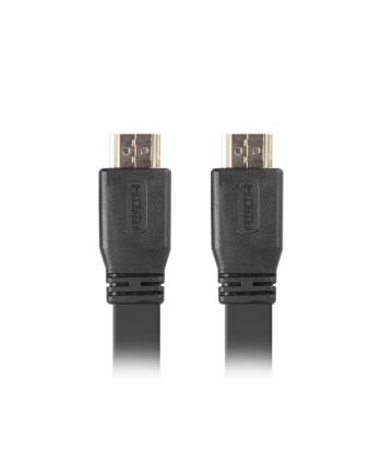 lanberg Kabel HDMI-HDMI v2.0 1.8m czarny płaski 4K 60Hz, pełna miedź