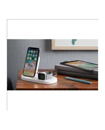 belkin Stacja dokująca BoostUp Wireless dock iPhone+Watch+USB-A biała
