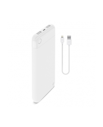 belkin Power Bank BoostCharge 10k + Lightning + kabel biały