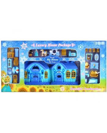 euro-trade Domek dla lalek światło i dżwięk + akcesoria 87x43x9 BS899-12F MC