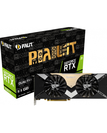 palit Karta graficzna GeForce RTX 2080 Ti DUAL 11GB GDDR6 352bit 3DP/HDMI/USB-c