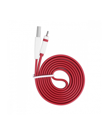 %TB Kabel USB-Micro USB 1m. burgundowy