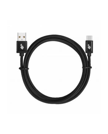 !TB Kabel USB-USB C 1.5m czarny sznurek