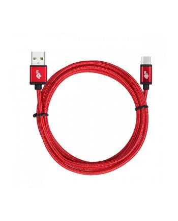 !TB Kabel USB-USB C 1.5m czerwony sznurek