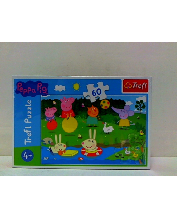 Puzzle 60el Świnka Pepa- wakacyjna zabawa 17326 TREFL