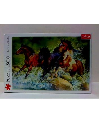 Puzzle- 1500el Trzy dzikie konie 26148 TREFL