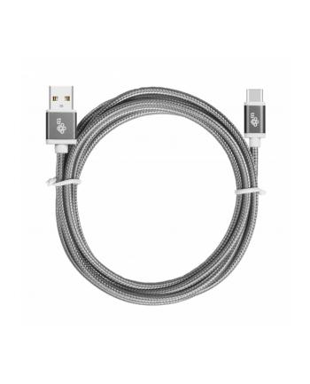 tb Kabel USB-USB C 1.5m szary sznurek