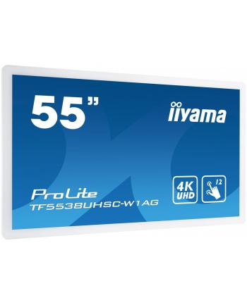 iiyama Monitor 55 ProLite TF5538UHSC-W1AG pojemnościowy biały 24/7 IPS DP