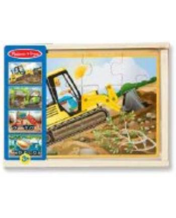 melissa & doug MELISSA Puzzle drewniane Pojazdy z budowy 4wz 13792
