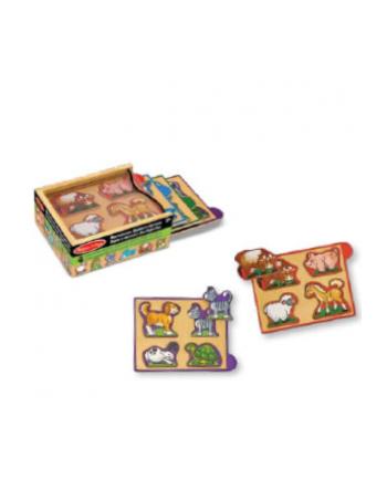 melissa & doug MELISSA Mini puzzle drewniane Zwierzęta 14790