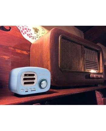 Techly Bezprzewodowy mini głośnik Bluetooth radio FM odtwarzacz MP3 MicroSD/TF
