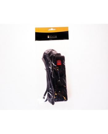 LIBOX Listwa przedłużacz, 3 gniazda, kabel 1,5m  LB0081B-1,5 czarny