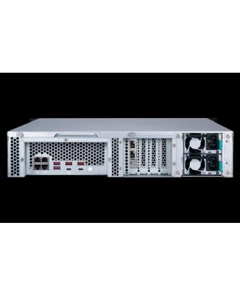 qnap 12-Bay NAS, Intel Xeon 4C 3,3GHz, 8GB RAM, 4x1GbE, 2x10Gb SFP+, 2x300W