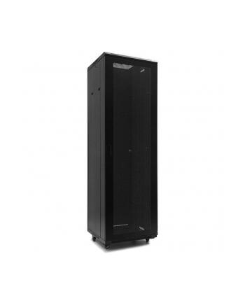 Netrack szafa serwerowa stojąca 42U/600x600mm (drzwi perforowane)-czarny ZŁOŻONA