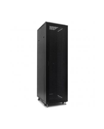 Netrack szafa serwerowa stojąca 42U/600x800mm (drzwi perforowane)-czarny ZŁOŻONA
