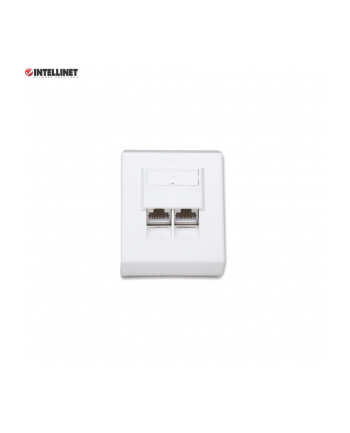 intellinet network solutions Intellinet Gniazdo natynkowe 2x RJ45 Cat5e FTP białe