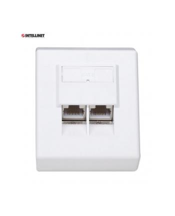 intellinet network solutions Intellinet Gniazdo natynkowe 2x RJ45 Cat6 FTP białe