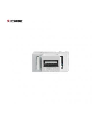 intellinet network solutions Intellinet Moduł Keystone z portem USB-A do ładowania, biały