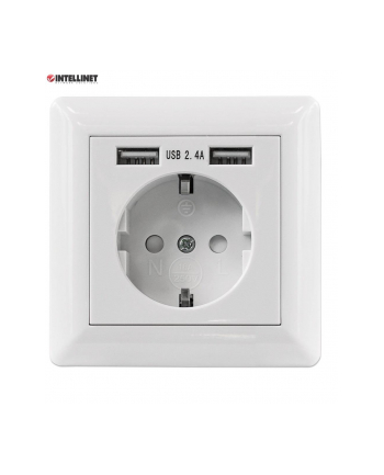 intellinet network solutions Intellinet 2-Port USB-A Wall Outlet and CEE 7/3 Socket with Faceplate
