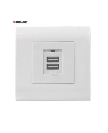 intellinet network solutions Intellinet gniazdo podtynkowe 2x USB-A 5V/2.1A białe