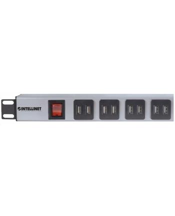intellinet network solutions Intellinet Listwa zasilająca Rack 19'', 16x USB typ A, wyłącznik, kabel 2m