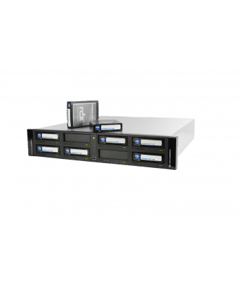 tandberg data Tandberg RDX QuikStation 8 RM, 8-bay, 2x 10Gb Ethernet, removable disk array, 2U