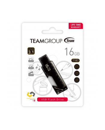 Team Group Pamięć USB T183 16GB USB 3.0 Czarna wielofunkcyjny design